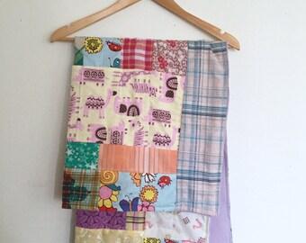 Patchwork Baby Quilt, Baby Quilt, Handmade Quilt, Nursery Decor, Baby Shower Gift, Modern Baby Quilt