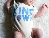 Chicago baby gift - My Kind of Town - Chicago themed, hand printed, organic baby bodysuit - made in Chicago, IL
