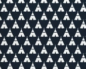 """CLEARANCE SALE - Navy Tee Pee Tent - Premier Prints Fabric 7 oz Cotton 54"""" wide - Yard - canvas upholstery - buy 5 yards get 6th yard free"""