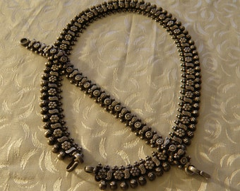 Antique Silver Indian Necklace and Bracelet