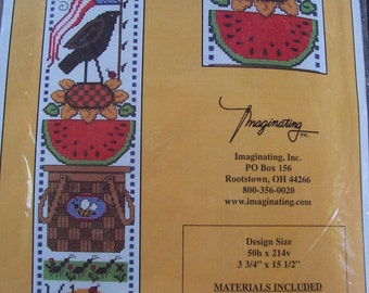 DESTASH,  Imaginating, Inc. Counted Cross Stitch Kit, Unopened, Summer Welcome