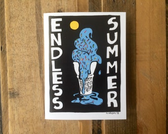 Greeting card- Summer Note Card Blank Inside - Endless Summer