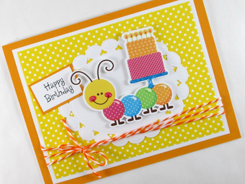 Caterpillar geburtstagskarte kinder geburtstag kinder - Geburtstagskarte basteln kinder ...
