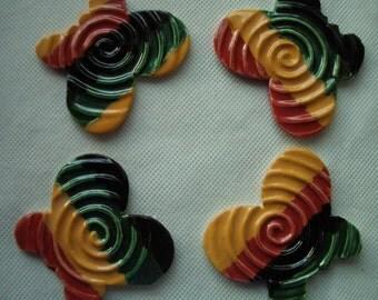 4F - Ja'maican Me CRAZY BUTTERFLIES - Ceramic Mosaic Tile
