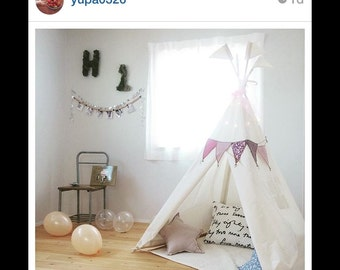 Children's teepee, playtent, tipi, zelt, wigwam,  high quality wigwam with mat, kids teepee, tent, play teepee, play tipi tent, MIDI size,