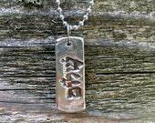 Sterling Silver Shalom Pendant. Shalom Dog Tag. Judaica. Judaica Jewelry. Judaica Necklace. Judaica for Him. Judaica for Her. Shalom Gifts
