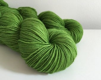 Shamrock - Walker - Superwash Merino and Nylon fingering 460 yards green solid yarn
