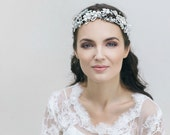 Bridal Headpiece , Wedding Pearl Headband, Freshwater Ivory Pearl Headband, Bridal Headdress,  Floral Wedding Headpiece