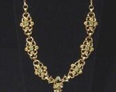 Vintage aqua blue Necklace lavaliere style