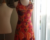 Retro Floral Dress size 8-10 (med)