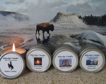 WYOMING SAMPLER (four 2-oz soy candles)