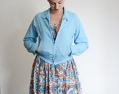 1960s Light Blue Zip up Jacket - S