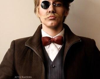 Black Monocle Steampunk Eye wear Vintage Eyewear