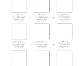 Instant Download Minimalist  Wholesale Catalog template for GIMP - Just Simple design