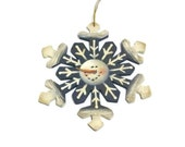 Hand Painted Snowflake Ornament