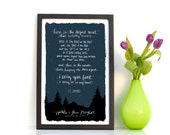 Custom E.E. Cummings, I Carry Your Heart, Typography Print, 11x17 Print, Personalized