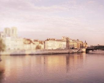 Paris Photography,  Île de la Cité and the River Seine, Romantic Travel Photograph, French Wall Decor