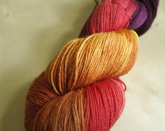 Autumn Brilliance Blue Faced Leicester Sock Weight Yarn