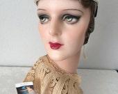 Vintage Hand Blown Glass PearlsWedding Headband...Bridal...Pretty as a Pearl...#2