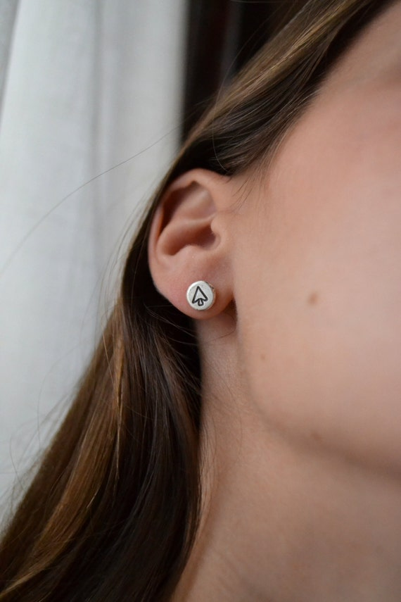 Mini Direction Silver Arrow Studs- made to order