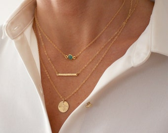 Delicate Layering Necklace set - save 20% - dainty gold chains