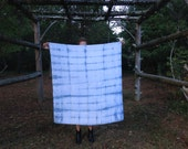 shibori indigo dyed cotton swaddle baby blanket