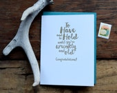 SASS-618 To have and to hold marriage letterpress greeting card