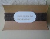 Wedding pillow box - set of 4