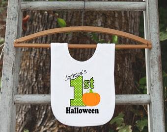 halloween bib lil pumpkin bib first halloween bib custom personalized 1st halloween bib