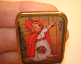 Red Riding Hood  Brooch