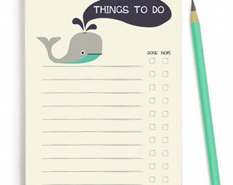 Things To Do Notepad Checklist