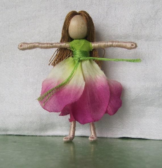 Flower Fairy Doll, Art Doll, Worry Doll, Faery, elemental