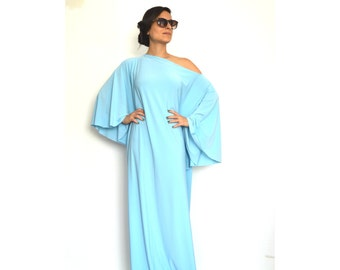 Women Long Sleeve Dress, Women Dresses, Turquoise Women Dress, Maxi Women Dresses, Oversize Women Dress
