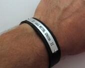Custom Men Bracelet - Men's Bracelet - Nameplate Bracelet for Him - Men's Jewelry - Customized Men's Bracelet. Personalized Bracelet for Him