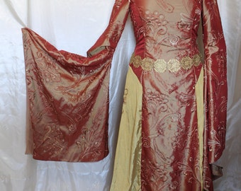 "Bust 37"" Cersei Game of Thrones Dress Renaissance Medieval Maiden Tudor Gown"