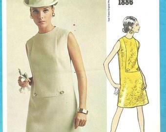 Vogue 1886 / Vintage Designer Sewing Pattern By Teal Traina / Dress / Size 12 Bust 34
