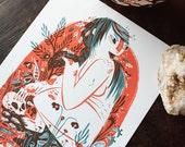 Eating Crow - archival art print - LAST CHANCE SALE