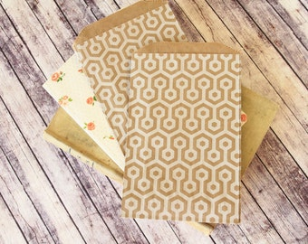 HONEYCOMB Kraft Brown Middy Bitty Bags medium paper bags
