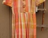 Gorgeous 50's silk summer shirt dress Small