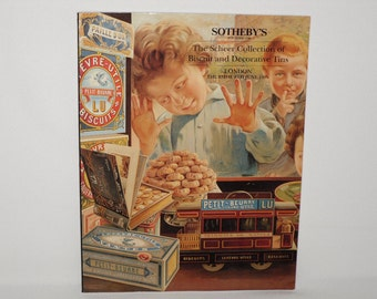 1995 Sotheby's The SCHEER COLLECTION Auction Catalog Biscuit And Decorative Tins