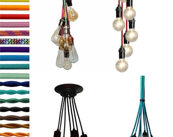 7 Cluster- Customizable Color, Length, Hardware, Bulbs.   Modern Chandelier - Modern Lighting - Modern Pendant Light - Modern Light Fixture
