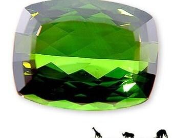 Vivid Deep Green Tourmaline Gemstone 37.16 carats