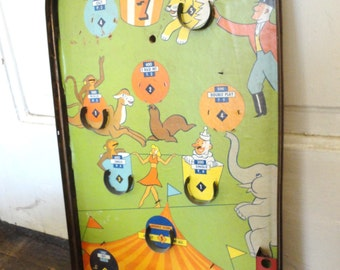 Old Circus Game for Wall Hanging