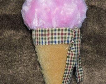 Cherry Ice Cream Cone Ornament