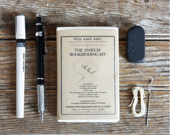 Anselm Bookbinding Kit DIY, DIY, Small book, Book Lover, Journal, Diary, Handmade, Drawing Book, Sketch Book, Writers Book, Gift under 30