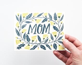 Mom - Screenprinted Card