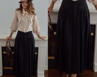 1970s Black Taffeta Tea Length Skirt, Lipton's, 1970s Skirt, Vintage Black Skirt, Formal Skirt, Evening, Taffeta Skirt