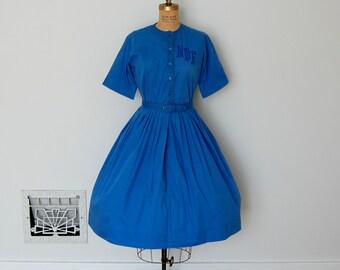 Vintage 50s Dress - 1950s Shirtwaist Dress - The Nina