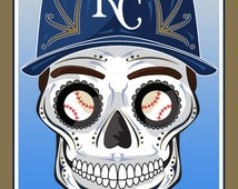 Kansas City Royals Sugar Skull Print 11x14 print