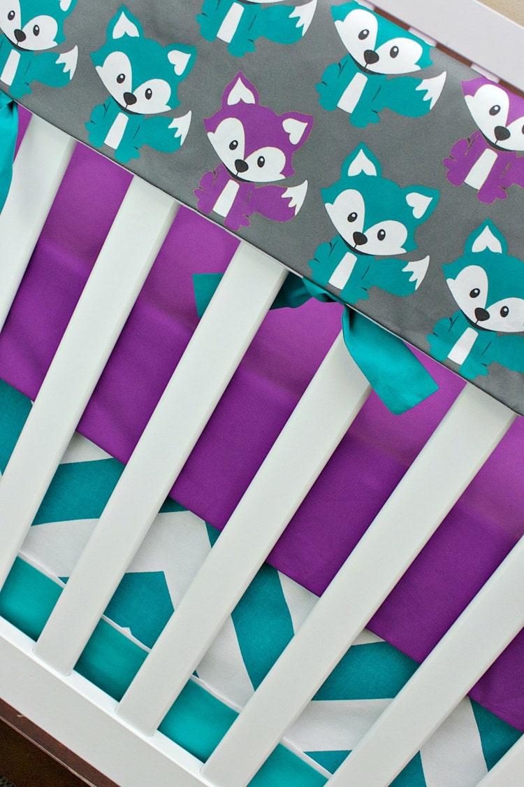 Fox Crib Bedding Baby Girl Nursery Crib Set Foxy in by